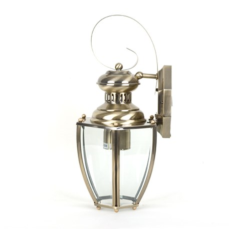 Wall lamp Norma with brass finish and clear glass