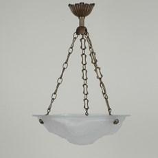 French Art Deco Hanging Lamp Hydrangea