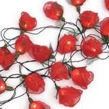 Light String Red Roses