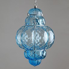 Venetian Hanging Lamp Medium Bellezza Aquamarine