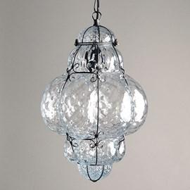 Venetian Hanging Lamp Medium Bellezza Transparent