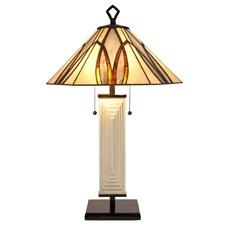 Tiffany Art Deco Table Lamp Round & Square