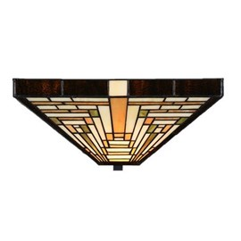 Tiffany Ceiling Lamp Rising Sun