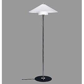Floor Lamp Bauhaus 1928 with Linen Lampshade