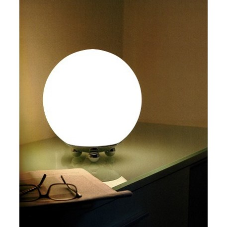 Globe table lamp with rounded shapes