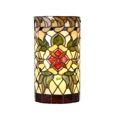 Wall Lamp Tiffany Red Ruby