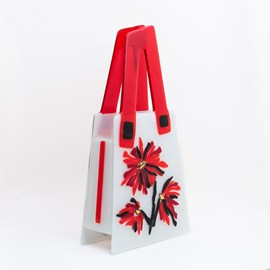 Art Deco Glass Bag Flowery