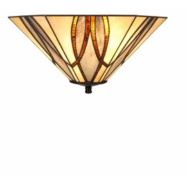 Tiffany Art Deco Lamp Round & Square