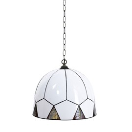 French Art Deco Tiffany Pendant Lamp Carraway with Chain