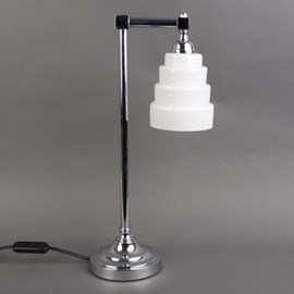 Bathroom Table Lamp Chrome Plated Fitting With Glass