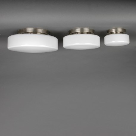 Overview ceilinglamp Peppermint opal glass in 3 sizes 20cm - 30cm - 40cm