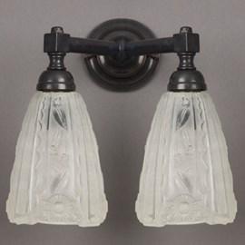 Bathroom Lamp Etched Lampshades V-Shape
