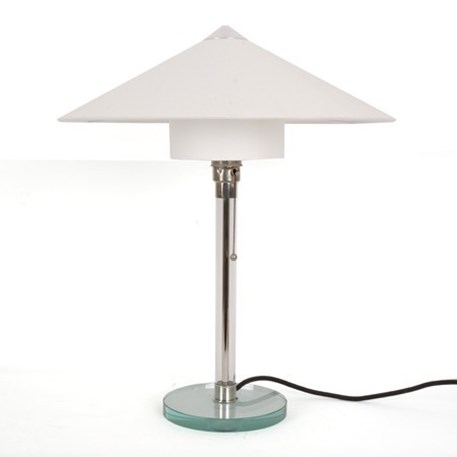 Bauhaus Table lamp with linnen shade