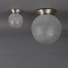 Ceiling Lamp Globe Etched