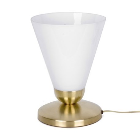 Table lamp slim cono uplighter with brass finish