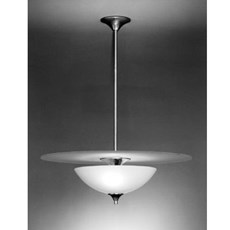 Hanging Lamp Half Moon with Glass Plate Opal