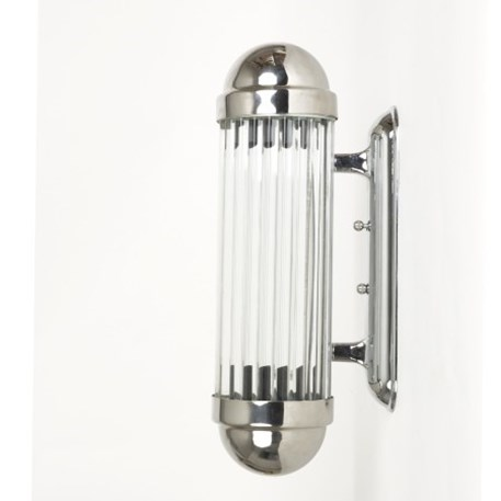 Side view wall lamp Astoria with glass sticks and shiny chrome finish