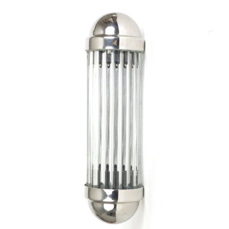 Frontview Wall lamp Astoria with glass sticks