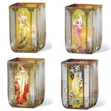Glass Lanterns The Four Seasons Mucha