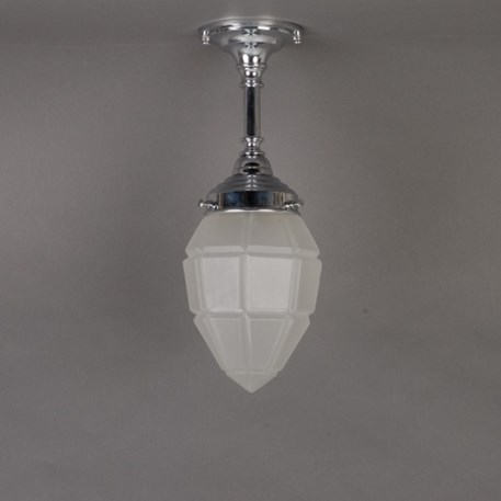 Bathroom hanginglamp with etched windows glass shade