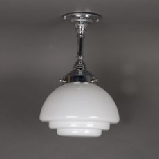 Bathroom Hanging Lamp Flat Stepped Gispen