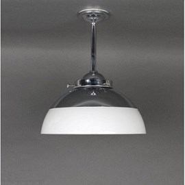 Outdoor/ Large Bathroom Pendant Lamp Half Globe Opal Ø 30 cm