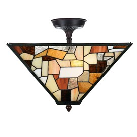 Tiffany  Elongated  Ceiling Lamp Fallingwater