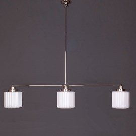 Hanging Lamp 3-Light with Glass Lampshade Thalia