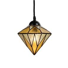 Tiffany Pedant Lamp Aiko Yellow