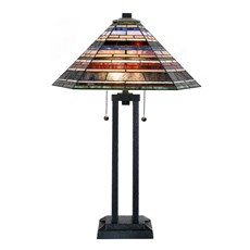 Tiffany Table Lamp Industrial Large