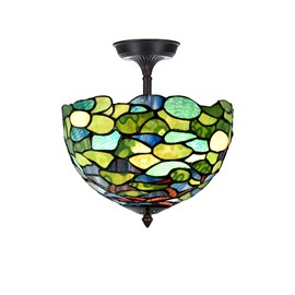 Tiffany  Elongated  Ceiling Lamp Hydrangea
