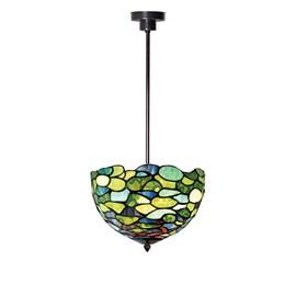 Tiffany Angular Pendant Lamp Hydrangea