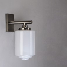Wall Lamp Opal Stepped Cylinder