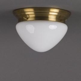 Ceiling Lamp Semi-Round Opal