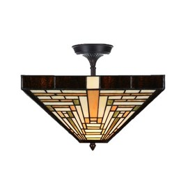 Tiffany  Elongated  Ceiling Lamp Rising Sun