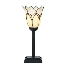 Tiffany Table Lamp Lovely Flower White