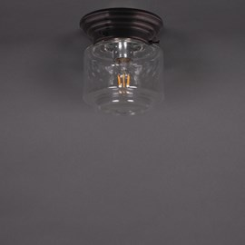 Ceiling Lamp Stepped Cylinder Small Transparant