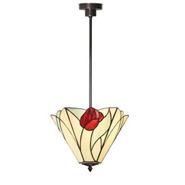 Tiffany Angular Pendant Lamp Tulip