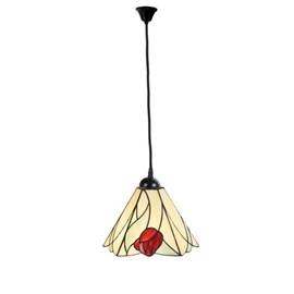 Tiffany Pendant Lamp Tulip on Linen Cord
